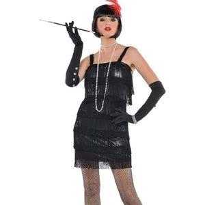 Flapper 1920's Black Fringe Costume